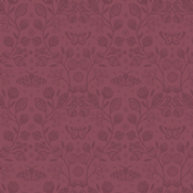Lewis & Irene - Winter Garden - 6206 - Winter Floral Tone-on-Tone, Burgundy - A319.3 - Cotton Fabric